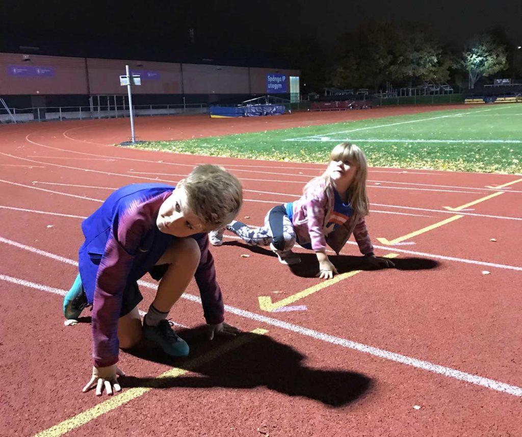 Tidigare i veckan tränade jag med barnen på idrottsplats.