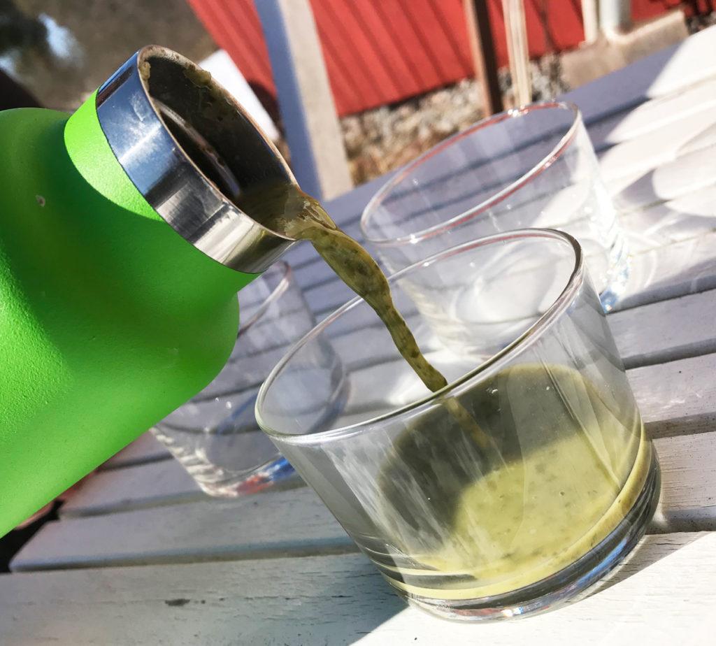Broccolisoppa är enkelt att tillaga och smidigt att ta med i termos. Funkar lika fint att dricka som att äta med sked.