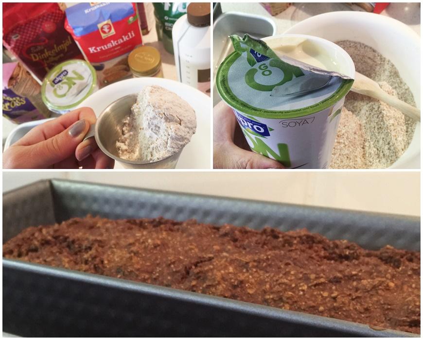 växtbaserat kvargbröd