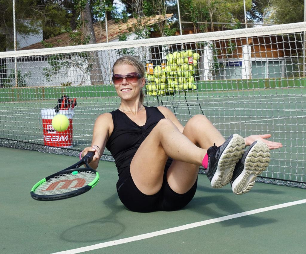 Rolig kontrollövning på Cardio Tennis.