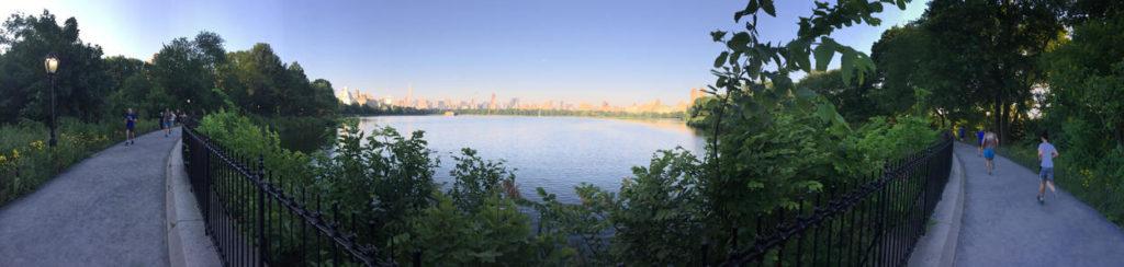 Älskar att springa i Central Park.