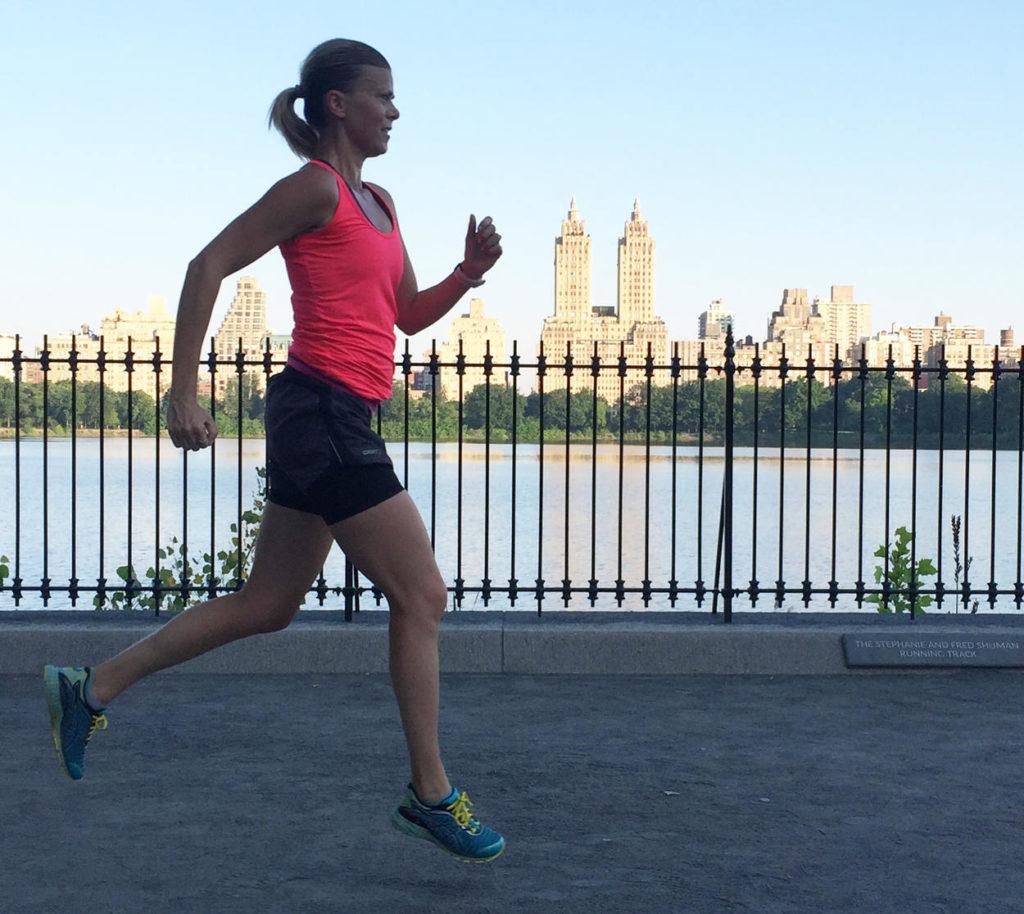 Löpning i Central Park.