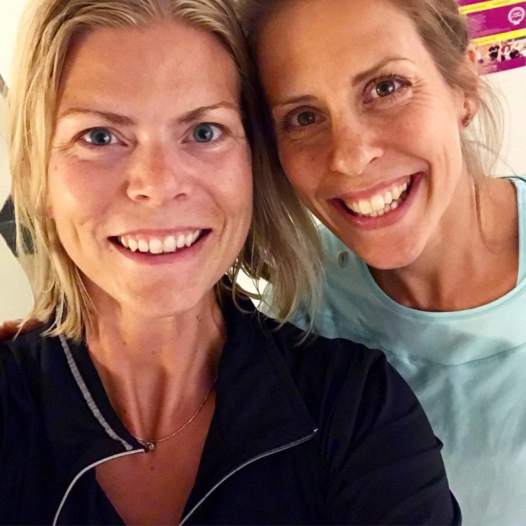 Löpning ihop med Charlotta Fougberg på en träningsträff inför Tjejmilen.