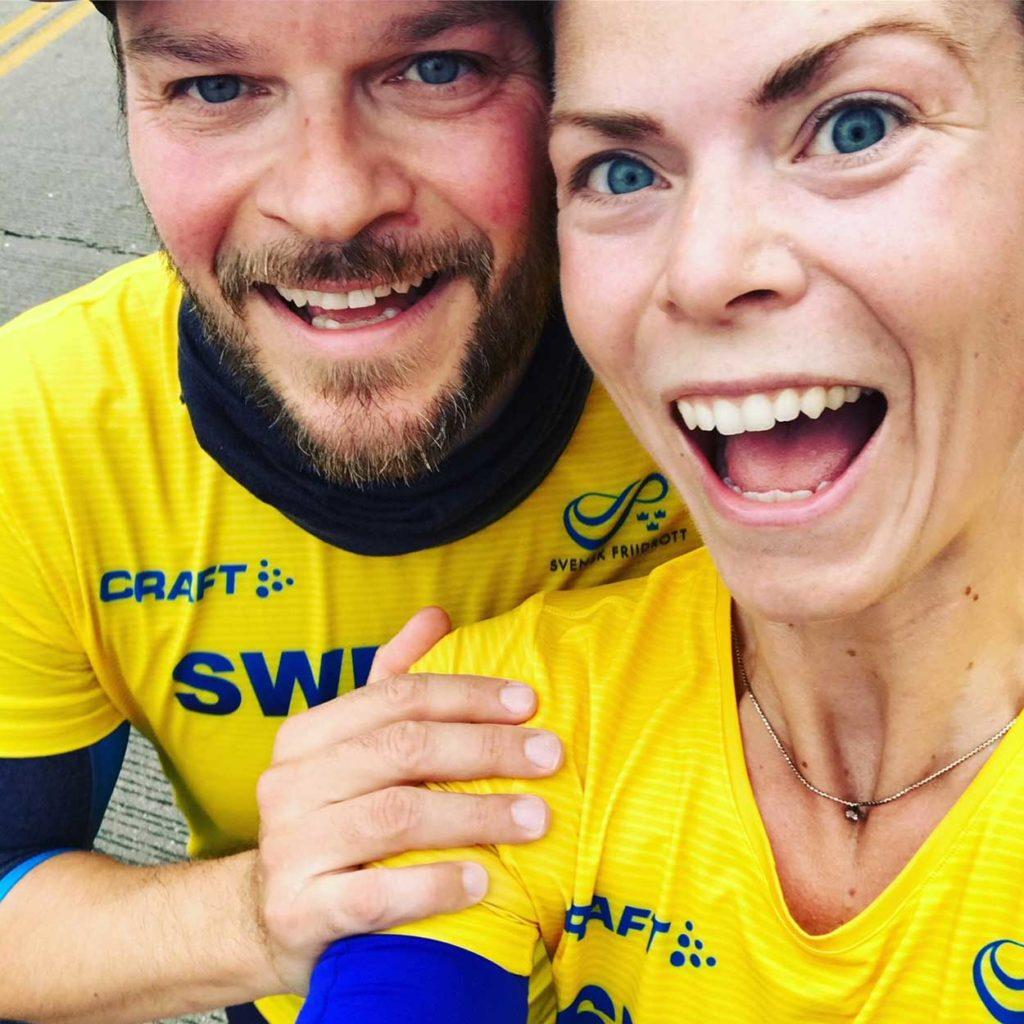 Dubbelt så roligt att uppleva ett maraton tillsammans.