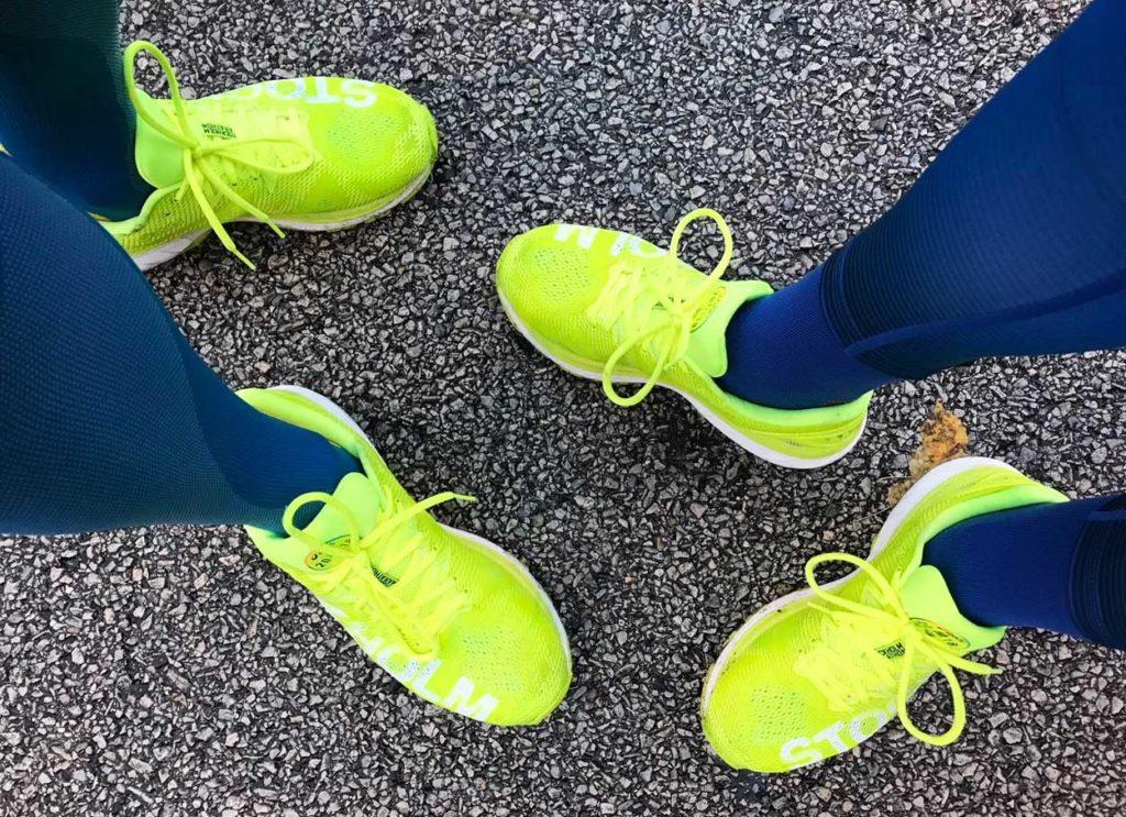 Jag och Glenn matchade varandra med både outfit och skor.