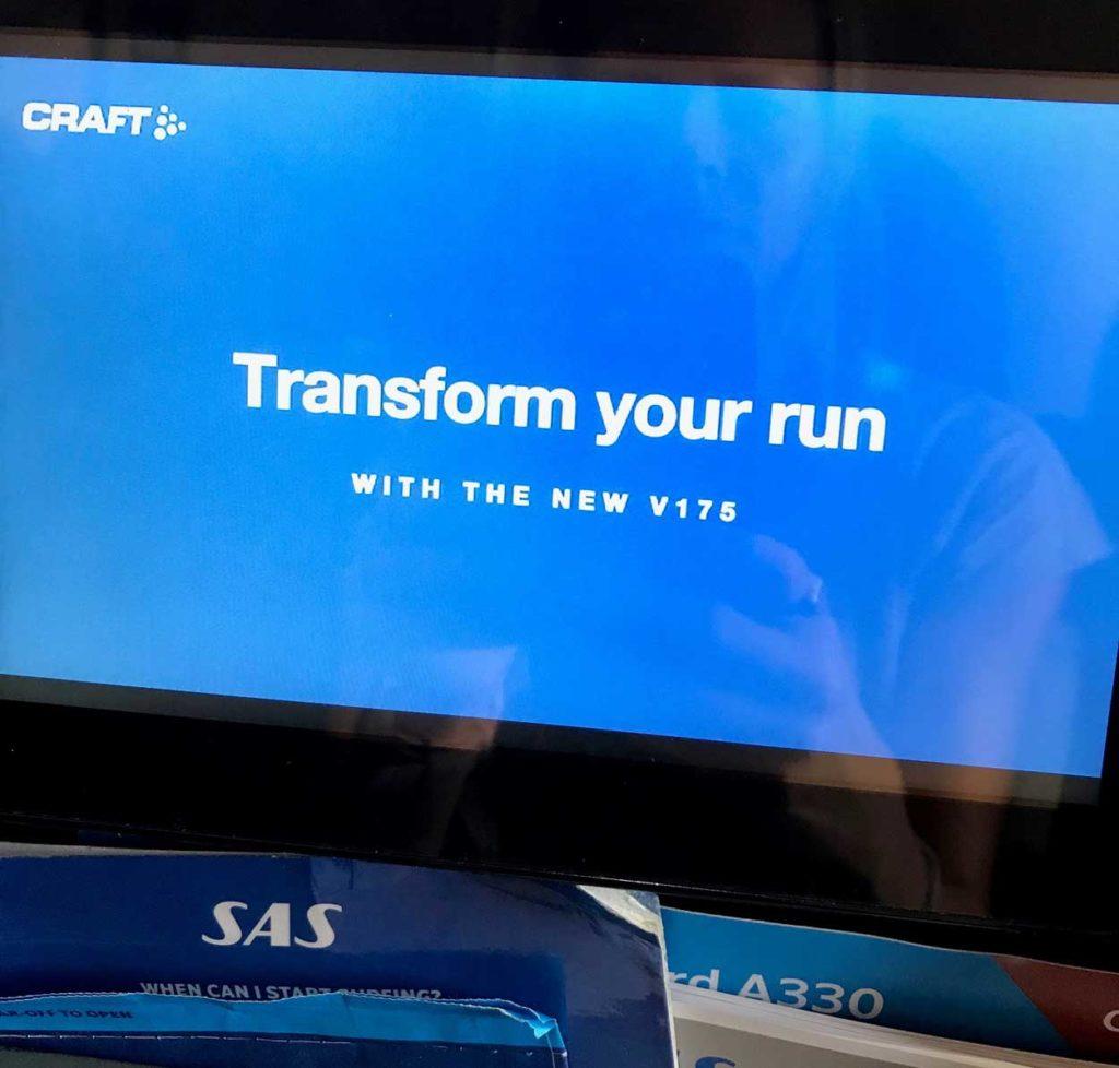 Det körde reklam i flygplatsen - blev härligt peppad när jag såg Crafts reklam, och blev löpsugen.