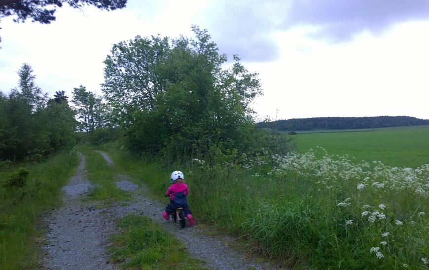 Cykla utomhus
