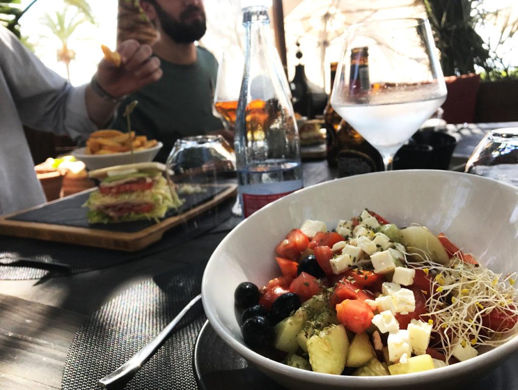 Dagens lunch efter konferens och innan en eftermiddag med snack på stranden och löprunda i Palma.