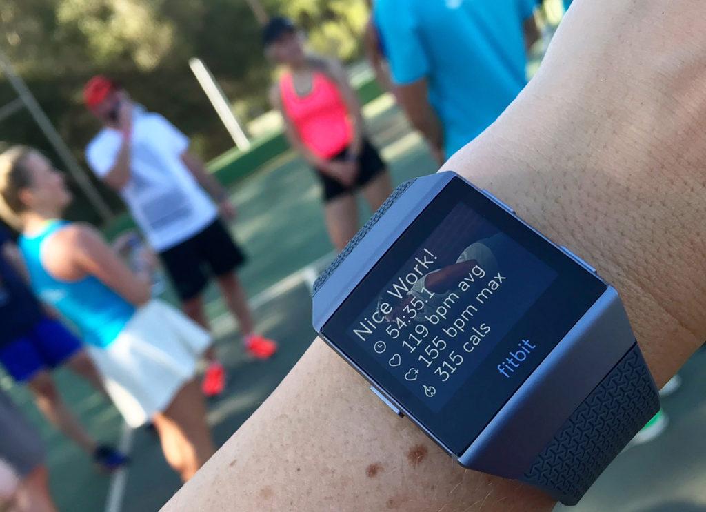 Summering av träning på Fitbit Ionic.