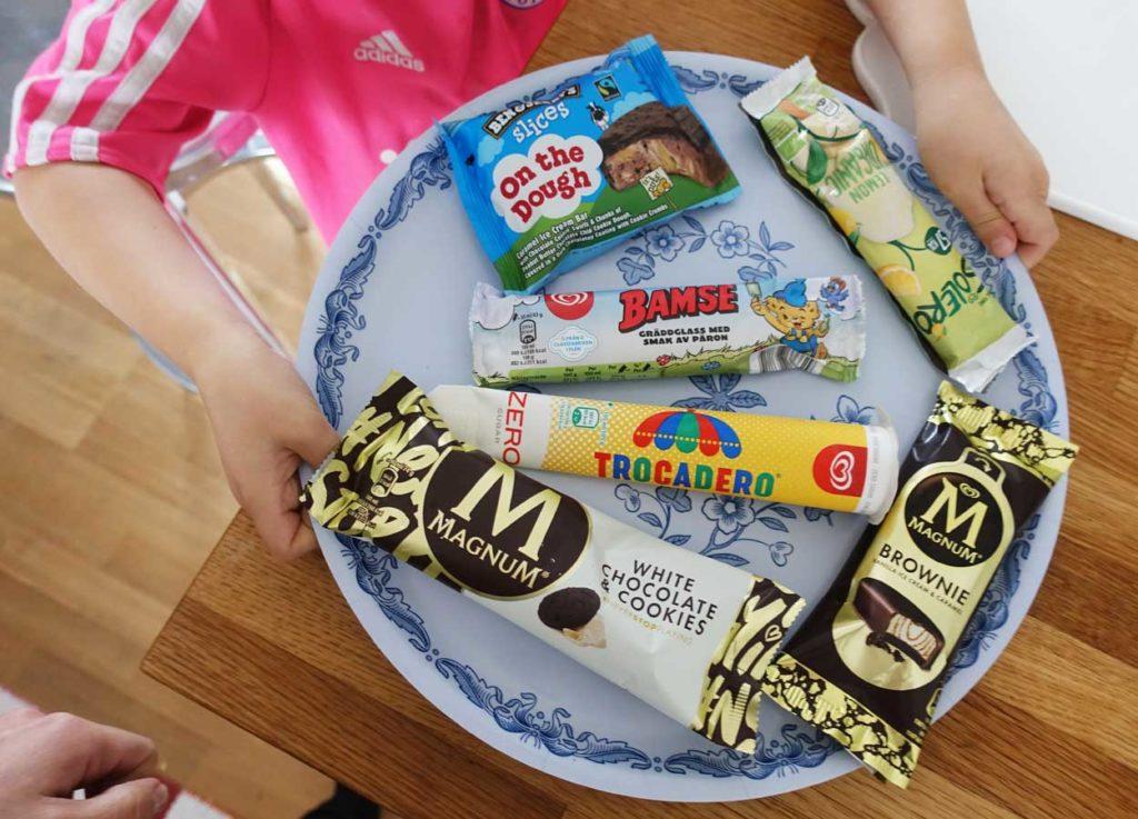 Årets glassnyheter från GB.
