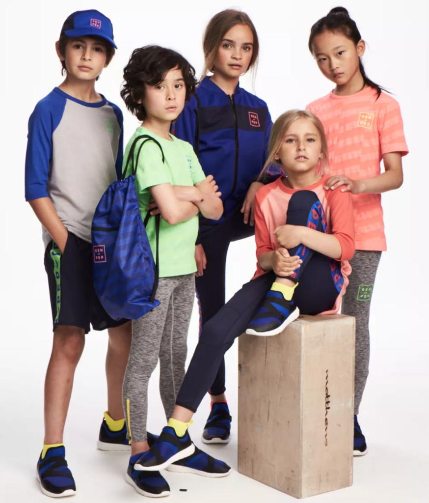 Höstens kollektion med träningskläder för barn från H&M i samarbete med GEN-PEP.