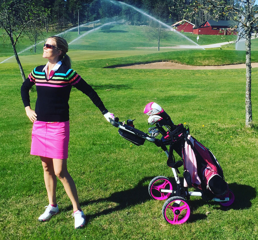 årets första golfrunda