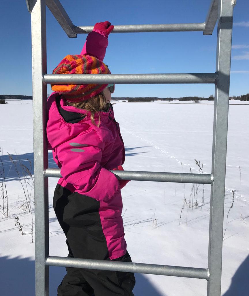 Klättrar man upp någon meter är utsikten över fälten ännu mer magisk.