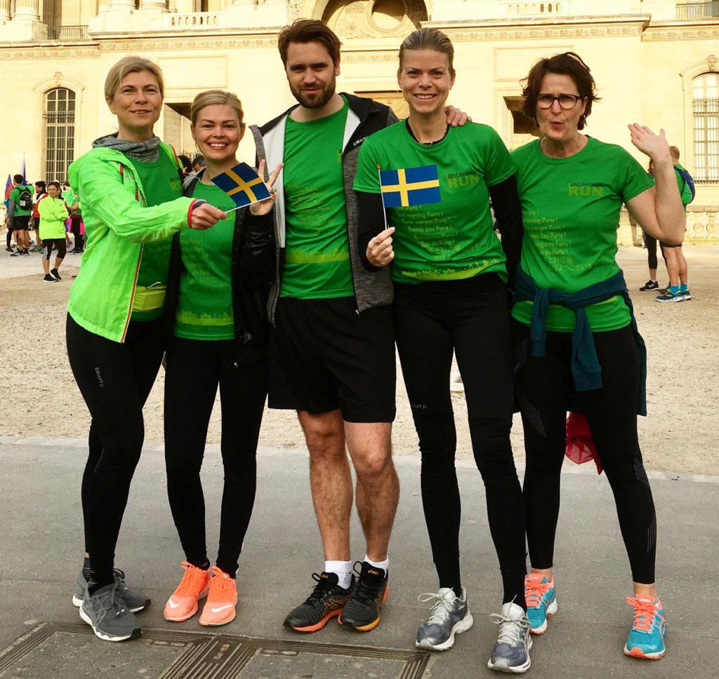 Hela gänget jag är i Paris tillsammans med, mina fina kollegor på Marathongruppen.