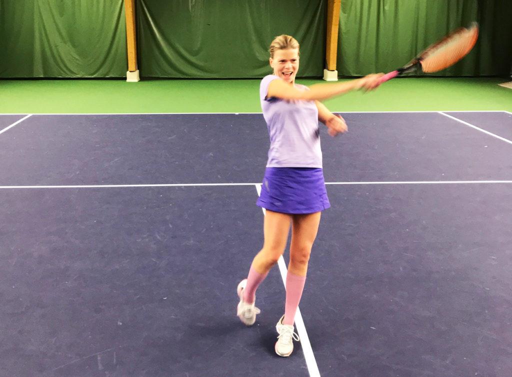 Jag tror på varierad träning. Min tennis och min maratonsatsning är två motsatser. Men det gör att jag behåller glädjen i båda!