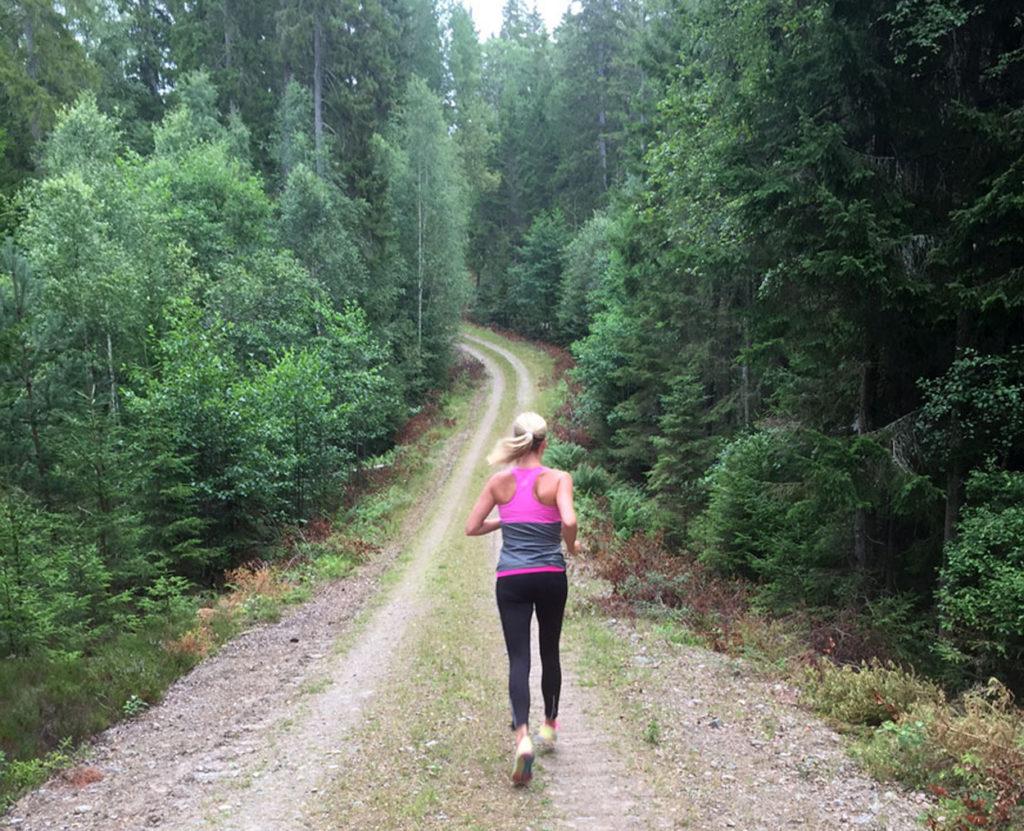 Att springa backar är en favorit hos mig.