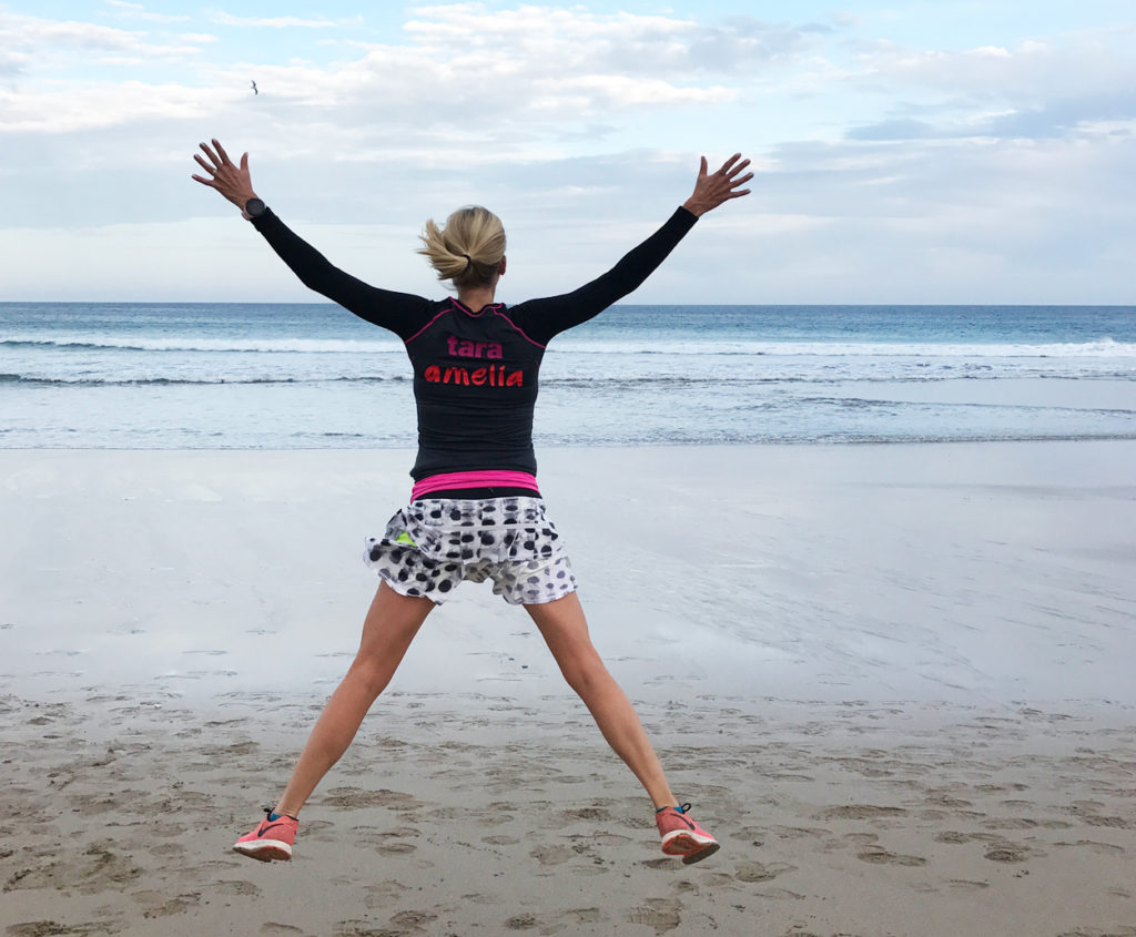 Glädjeskutt på stranden!