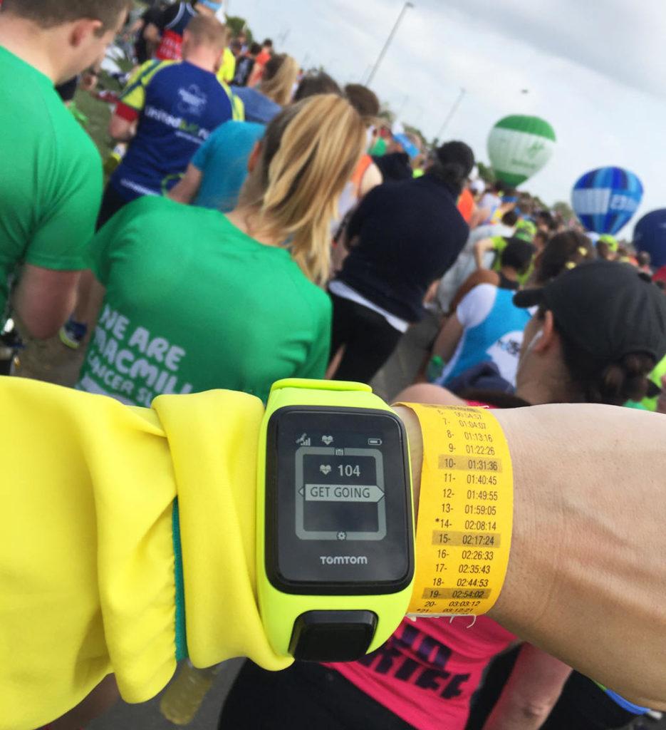 London Marathon: Get going! Men det dröjde ett tag innan jag var framme vid startlinjen.