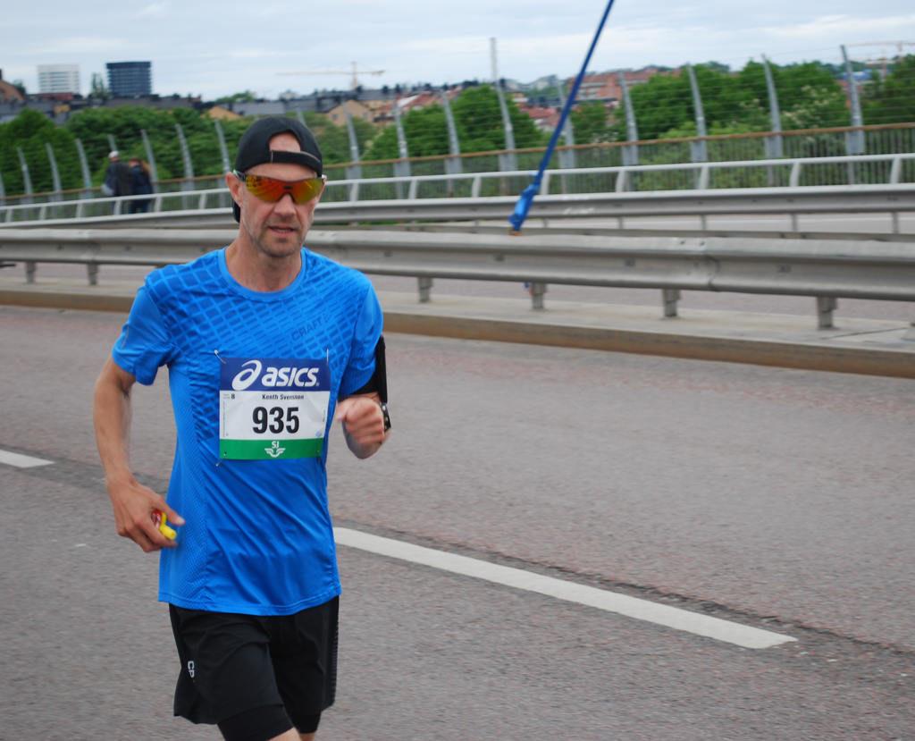 Bloggaren Kenth Svensson på Västerbron.