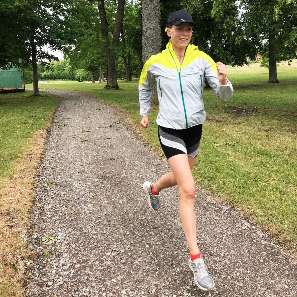 En mils löpning till Drottningholm där familjen mötte upp mig.