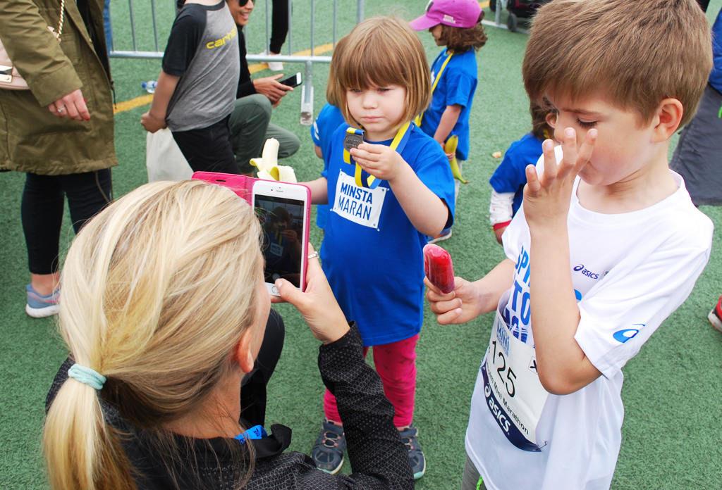 Medalj efter målgång till alla barn.