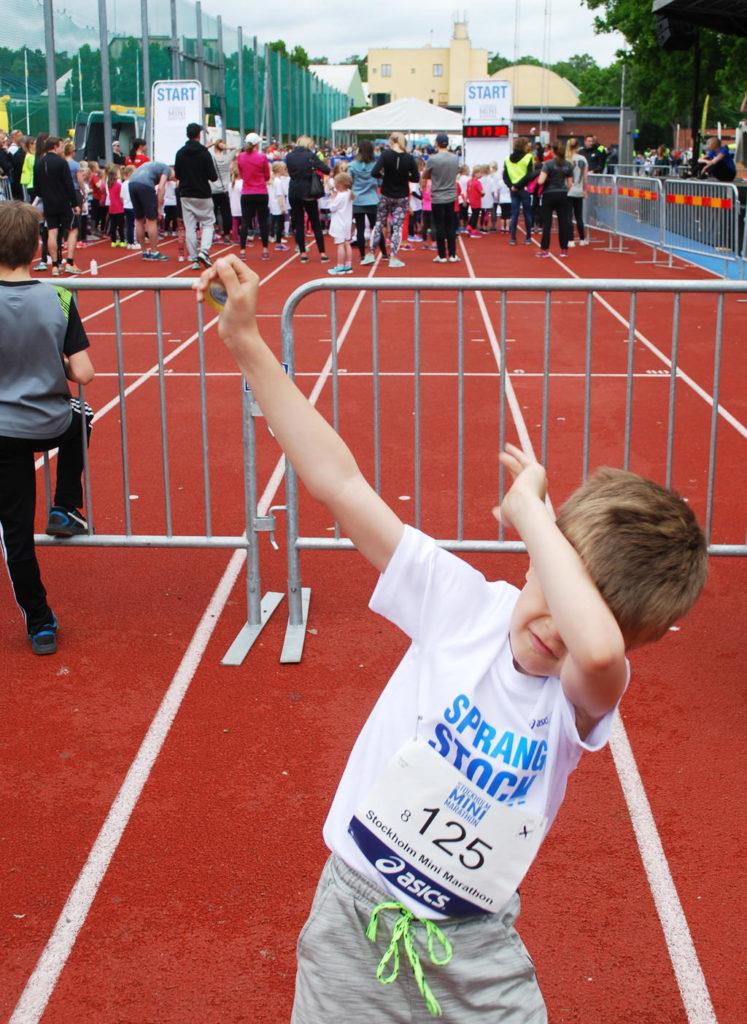 Dabb innan det var dags att ställa sig i startfältet för att springa Stockholm Mini Marathon.
