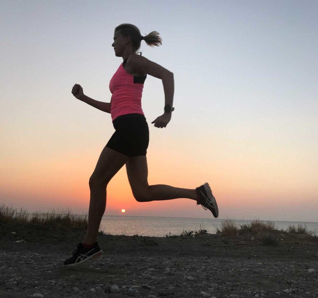 Underbart att springa när solen går upp.