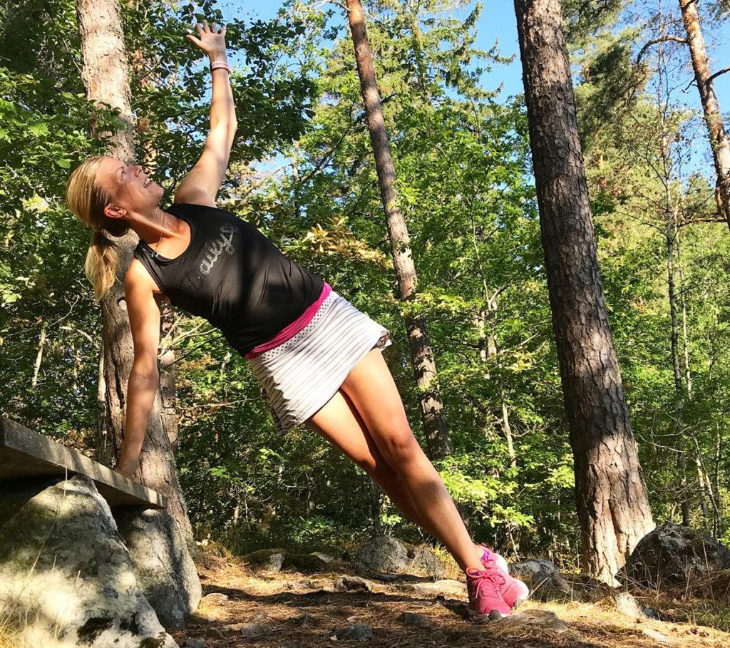 Morgonträning i Smålands skogar.