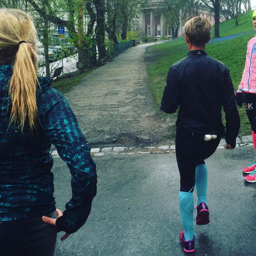 uppladdning inför halvmarathon