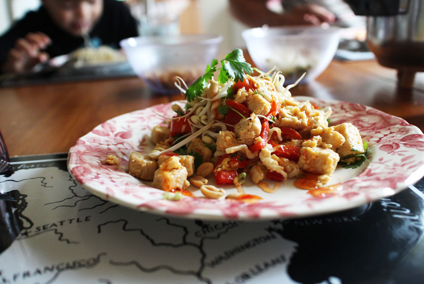 Pad thai med quorn