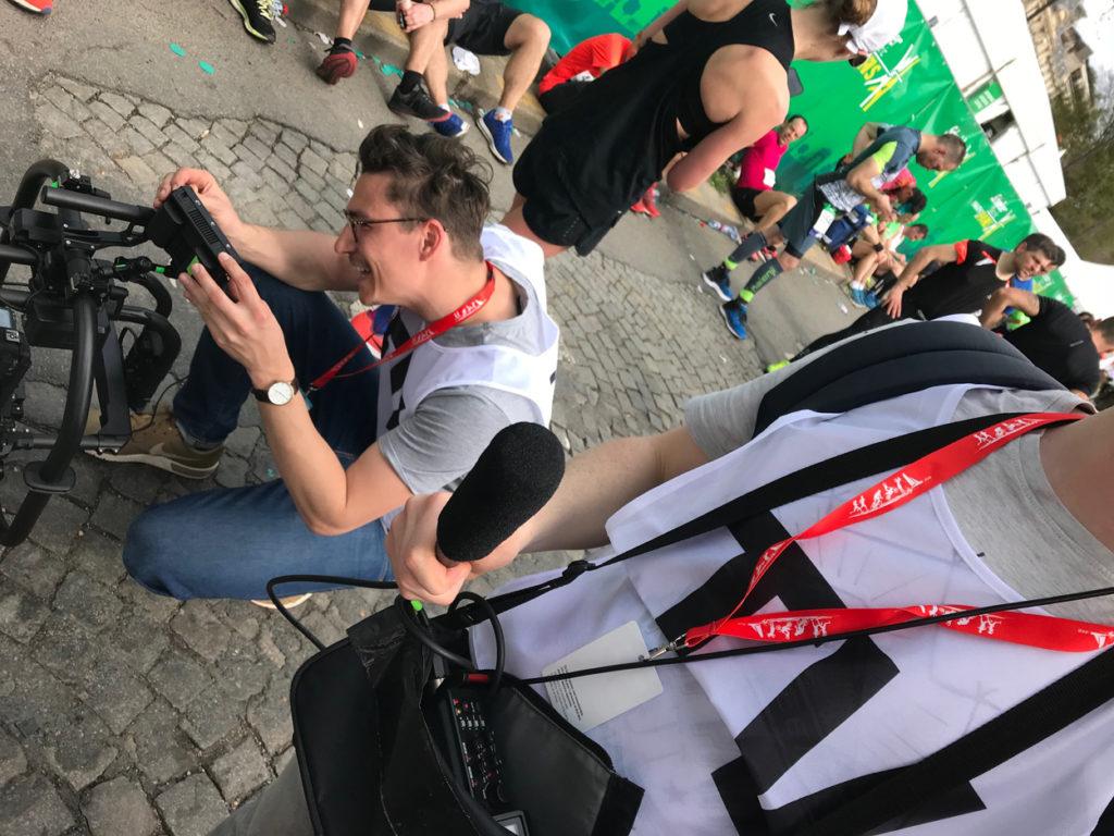 Direkt efter målgång blev jag intervjuad och filmad av ett franskt teveteam. Jag tror de gillade att jag sprang över mållinjen samtidigt som jag filmade mig själv.