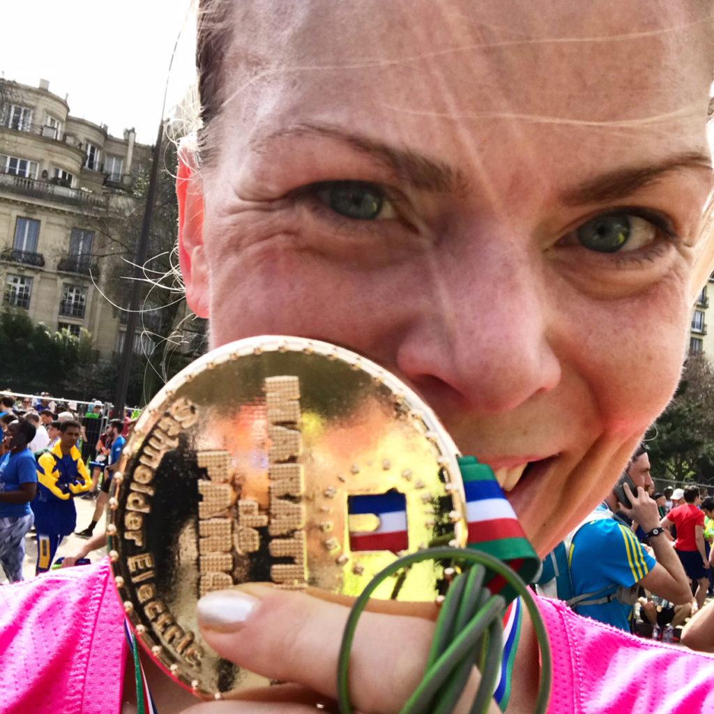 Välförtjänt medalj! Nu är den upphängd med resten av mina medaljer i hemmagymmet.