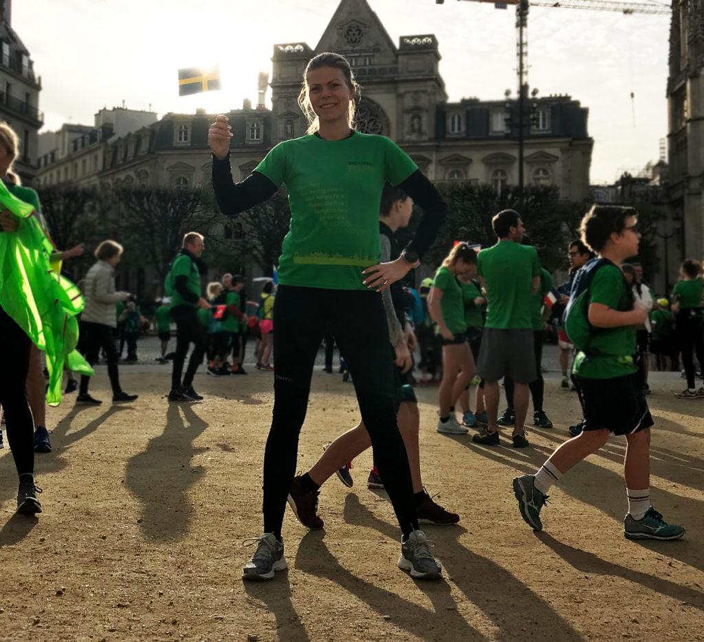 Innan starten av Paris Breakfast Run.