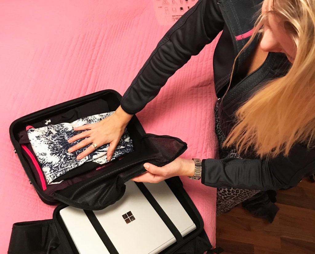 Packa smart så ryms det mycket i väskan.