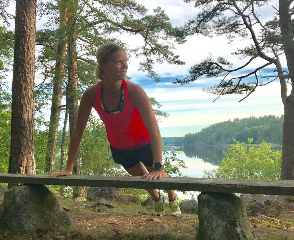 Löpning och lugnet i Småland.