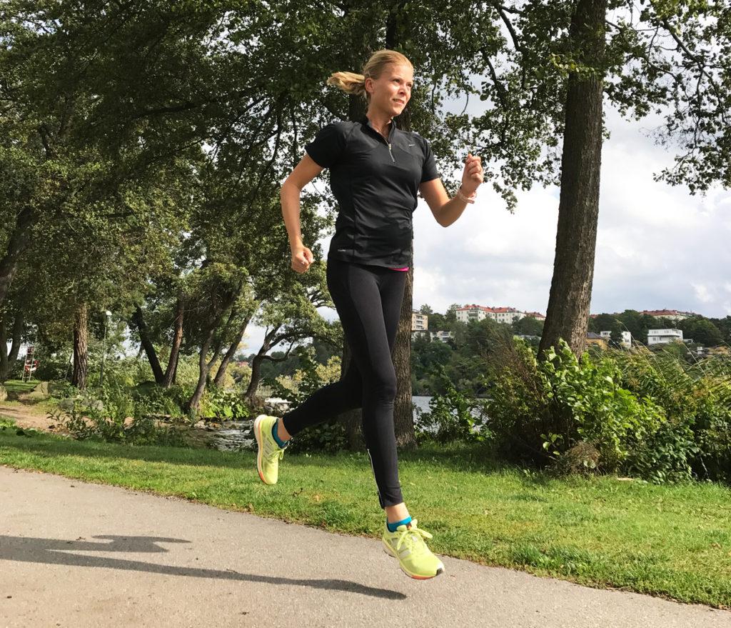 Lugn lunchjogg på 7 km startade min nya träningsvecka.