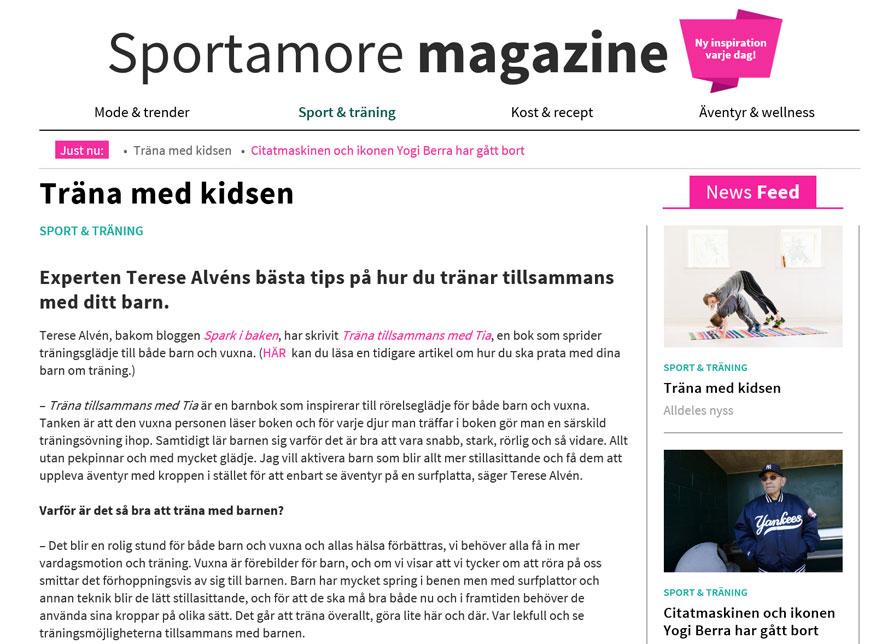 sportamore magazine - träna med barnen