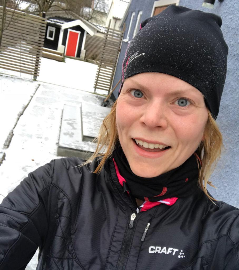 Lycklig efter långpass - nu är jag igång inför Paris Marathon igen.