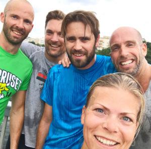 Att springa i grupp är roligt! Idag sprang jag ihop med detta starka gäng.
