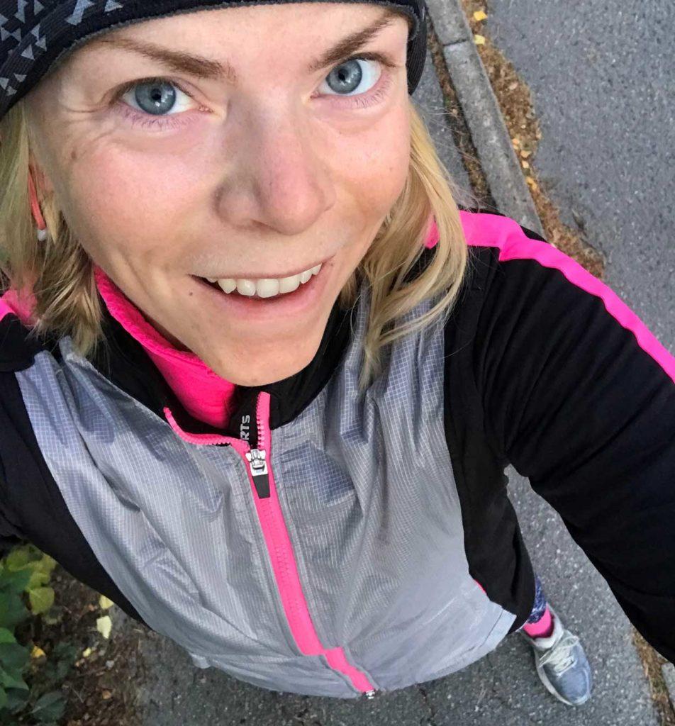 Glad efter löpning!