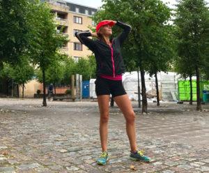 Redo för att springa i regn - även om det inte kom några droppar på mig.