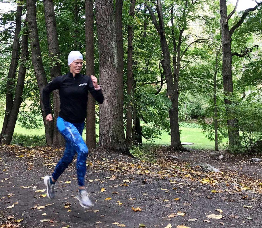 I onsdags sprang jag intervaller på lunchen. Skönt med ett snabbt pass några dagar innan ett maraton.