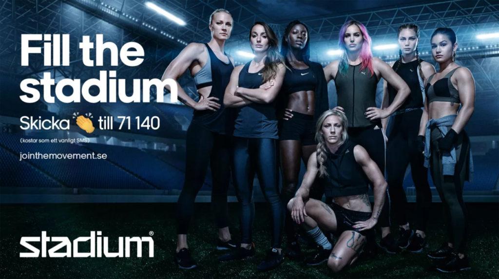 Fill the stadium - kampanj från Stadium.