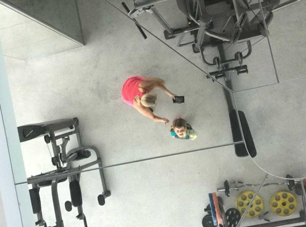 I gymmet med Tilde.