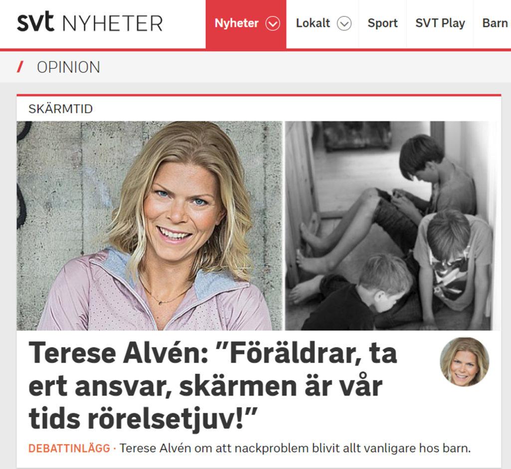 Debatt om skärmtid i SVT Opinion.