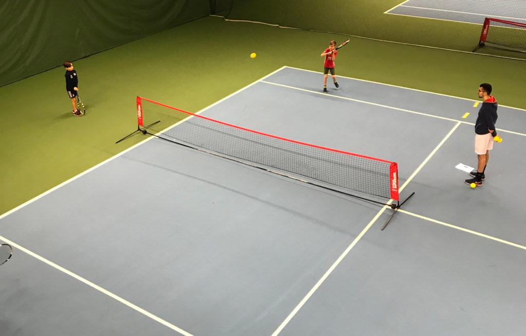Sonens första tennisturnering. Han hade så roligt samt vann fyra av fem matcher.