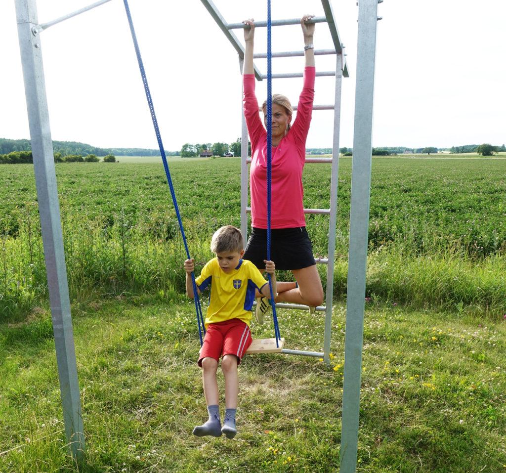 Så skönt att hänga, jag känner snabba resultat i min armstyrka.