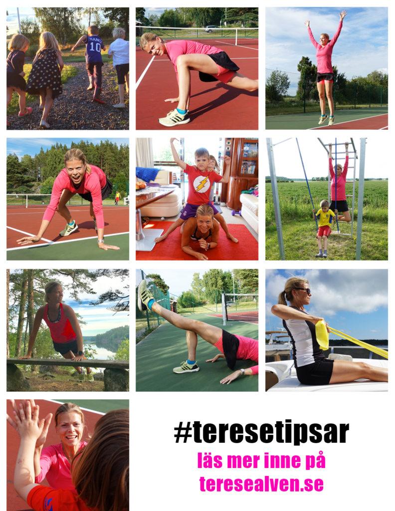 Häng med på #teresetipsar - 100 tips mot ett liv med rörelseglädje!