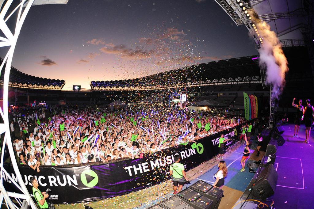 Musikfestival efter målgång i The Music Run.
