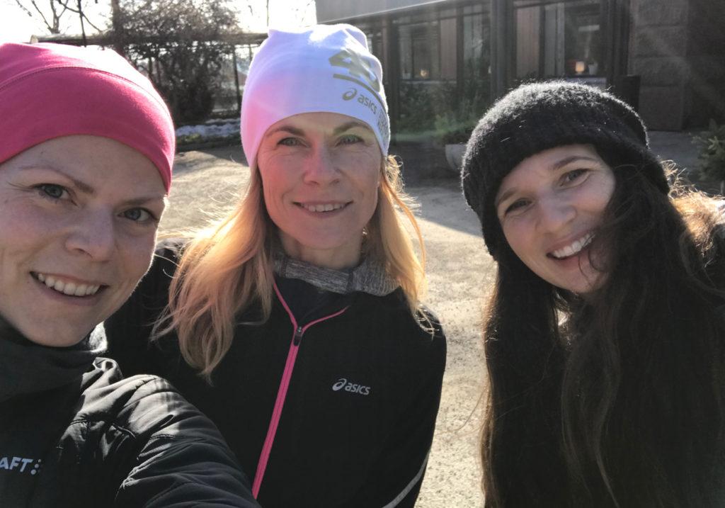 Jag, Kristina och Lisa, några av oss nöjda arrangörer och coacher efter en lyckad helg.
